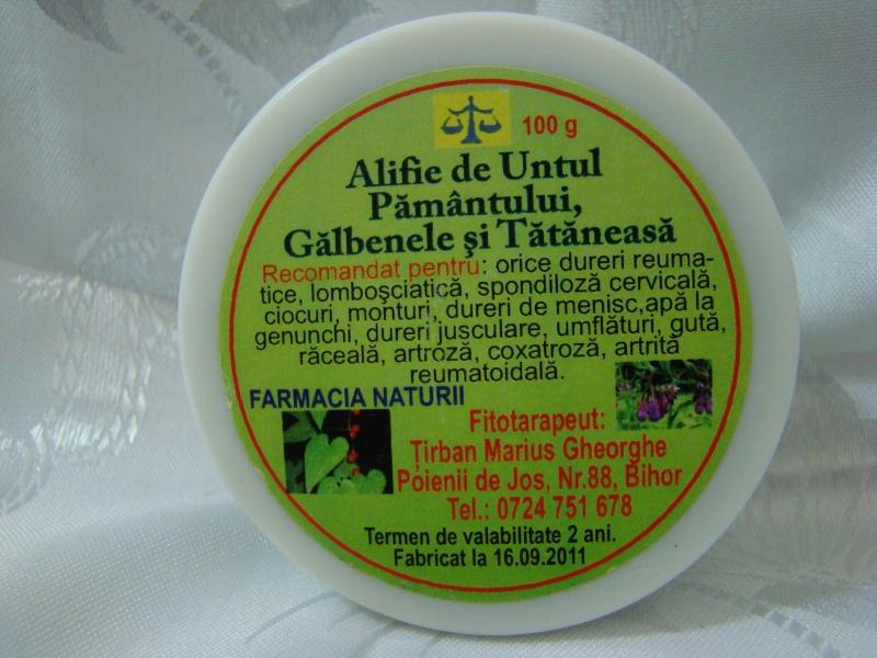Gel preparat din tataneasa pentru artrita si artroze
